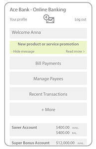 Fig 4b.  A new product/service promotional message on mobile