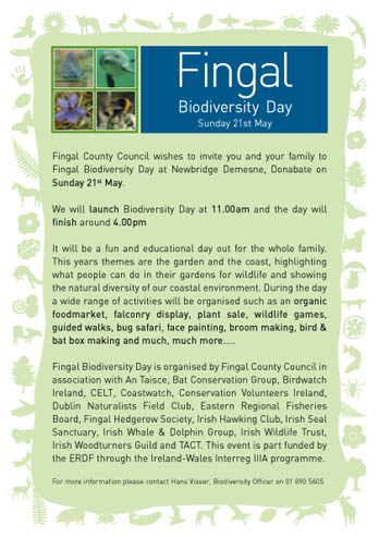 Fingal Biodiversity Day flyer