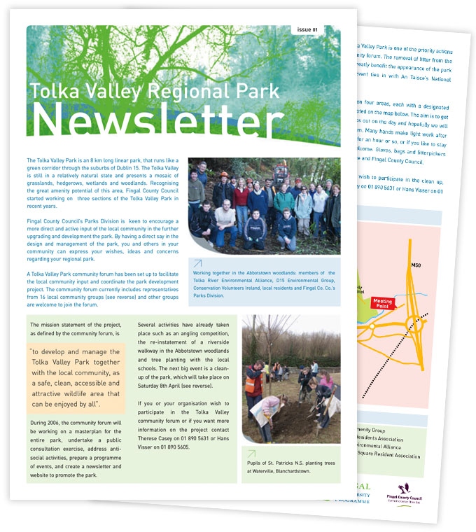 Tolka Valley newsletter
