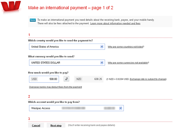 International payments - page 1
