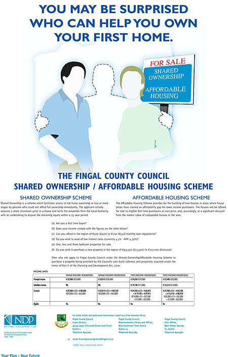 Fingal County Council housing poster