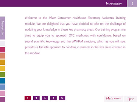Calpol introduction screen