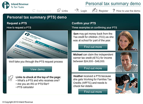 IRD Personal tax demo